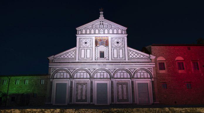Basilica di San Miniato illuminata per il 2 giugno