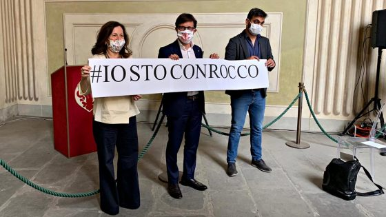 """Nardella: """"Anche io ho fatto il mio piccolo striscione #IostoconRocco"""""""