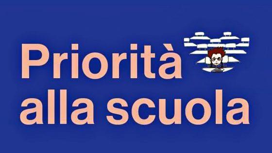 """""""Priorità alla Scuola"""", giovedì 25 giugno manifestazione nazionale"""