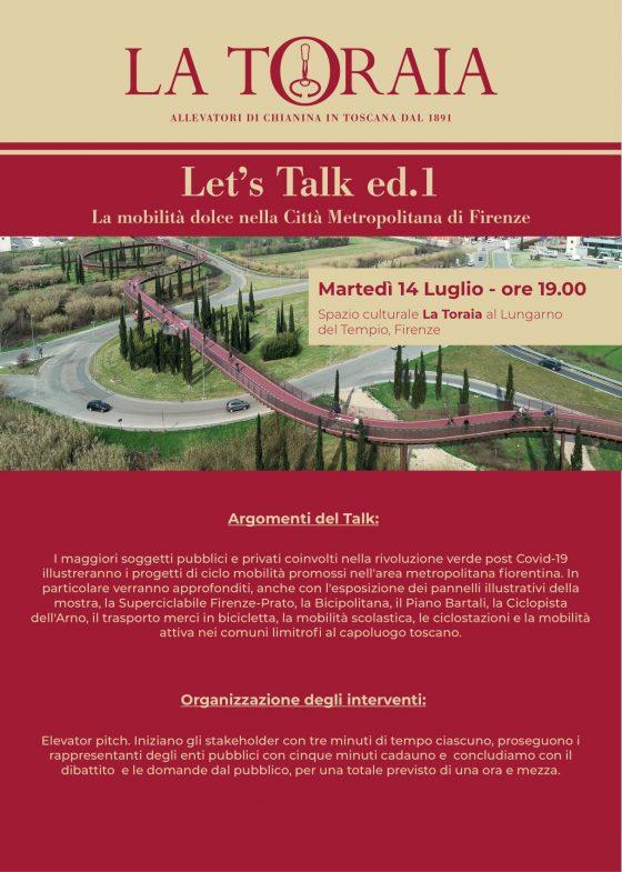 Mobilità ciclabile e Città metropolitana: Talk sui grandi progetti a La Toraia