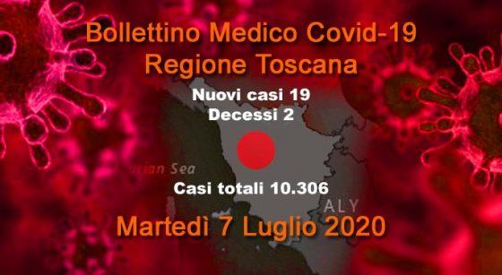 Coronavirus in Toscana: 19 nuovi casi, 2 decessi