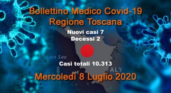 Coronavirus in Toscana: 7nuovi casi, 2 decessi