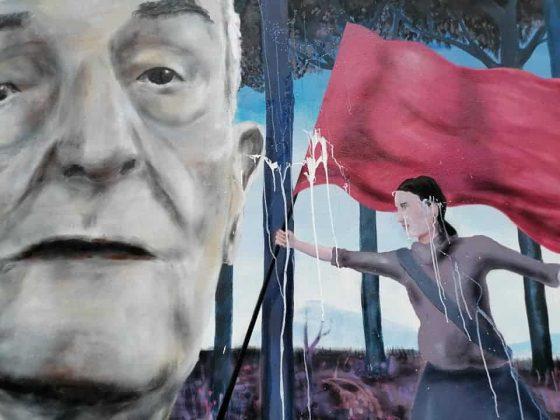 Imbrattato il murale per ricordare il partigiano Silvano Sarti a Firenze