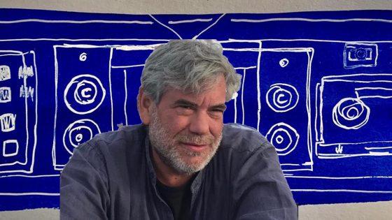 """Marco Klee Fallani disegna """"Le copertine Facebook d'autore di Controradio"""" di Luglio"""