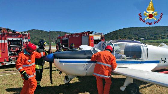 Aereo da turismo finisce fuori pista all'Isola d'Elba