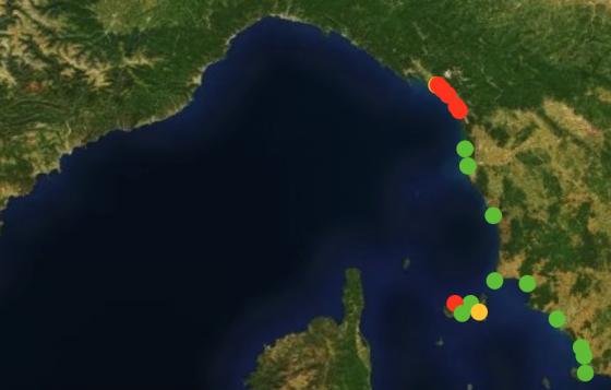 Mare Toscana: Legambiente, 8 punti campionati su 20 oltre i limiti di legge
