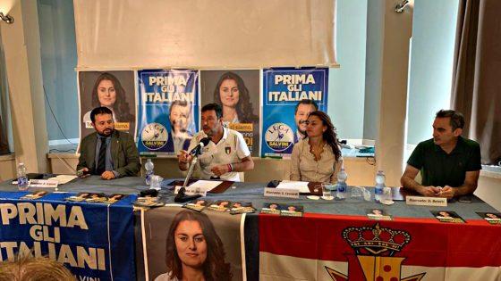 "Salvini, Ceccardi sarà ottimo ""Sindaco di tutti i toscani"", mica Giani"