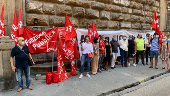 Protesta dei lavoratori della sanità privata