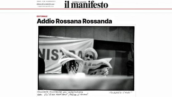 Rossana Rossanda è morta nella notte a Roma. Aveva 96 anni