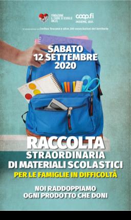 Sabato raccolta straordinaria di materiali scolastici con Unicoop Firenze