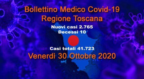 Coronavirus in Toscana: 2.765 nuovi casi, età media 45 anni, 10 decessi