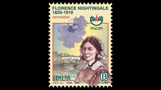 Francobollo per Florence Nightingale e tutti infermieri