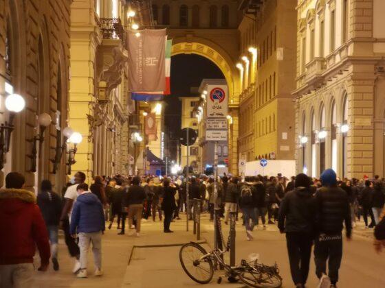 Giovanissimi negli scontri per le vie di Firenze