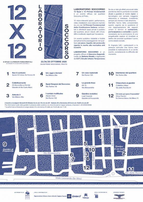 LABORATORIO SOCCORSO a Prato: 12 spazi per 12 principi fondamentali