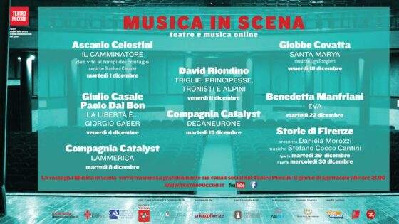 """""""Musica in scena 2020"""": teatro e musica online"""
