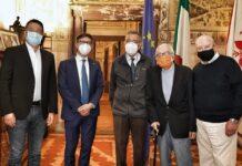 Giorgio Morales con il sindaco Dario Nardella e il prof. Mario Primicerio