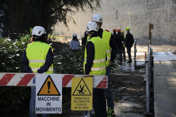 Ordigno bellico scoperto in cantiere biblioteca Empoli