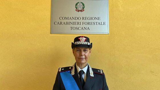 Marina Marinelli, al Comando Carabinieri Forestali Toscana