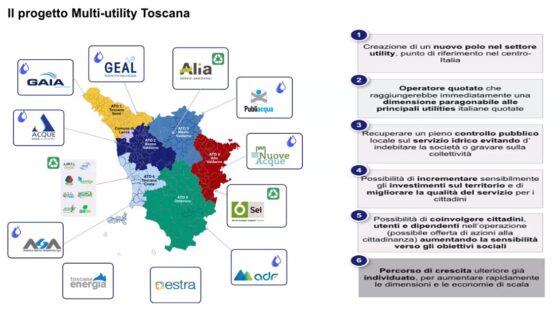 Multi-utility Toscana, al via il progetto della nuova holding