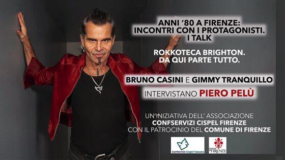 Piero Pelù oggi a Controradio, con Bruno Casini e Gimmy Tranquillo