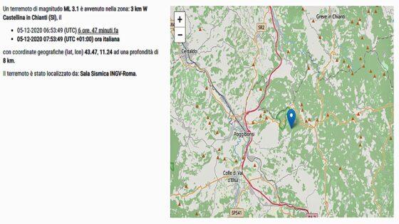 Terremoto, scossa magnitudo 3.1 nel Senese, non ci sono danni