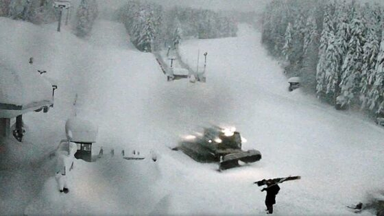 La neve continua a cadere in Toscana