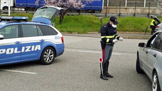 Polizia stradale rileva 30,5% in meno di incidenti stradali