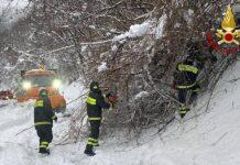 neve. emergenza in Garfagnana