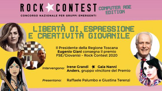 Rock Contest 2020, Giani consegnerà premio FSE/GiovaniSì agli Anders
