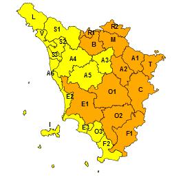 Ghiaccio, codice arancione per domenica 14 febbraio su gran parte della Toscana