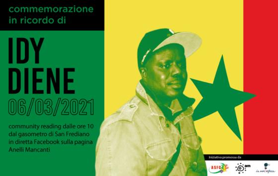 """Firenze ricorda Idy Diene il 5 – 6 marzo, """"per una città che combatte il razzismo"""""""