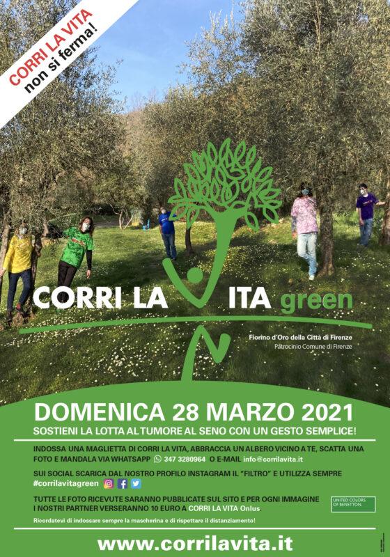 'Corri la vita green' il 28/3 a Firenze