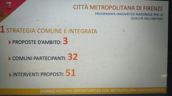 Bando 'Pinqua' per la qualità dell'abitare: 54 interventi, 362 alloggi per famiglie, Firenze e Metrocittà