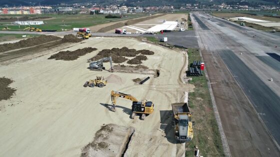 Sopralluogo stato avanzamento lavori pista Aeroporto