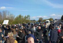 A1 bloccata per protesta
