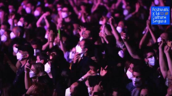 """""""Test, mascherine e buona ventilazione per concerti sicuri"""", risultati evento Barcellona"""