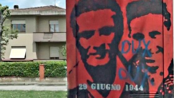 Chiassa, imbrattato murales dedicato a partigiani