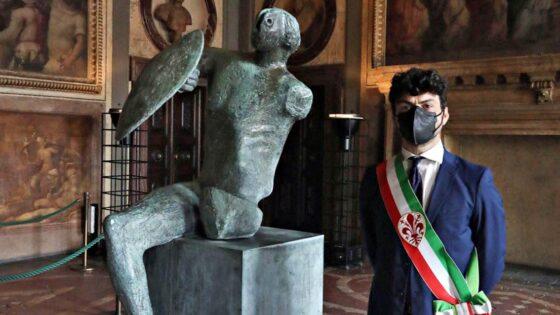 🎧 Il Guerriero di Moore 'torna a casa' in Palazzo Vecchio