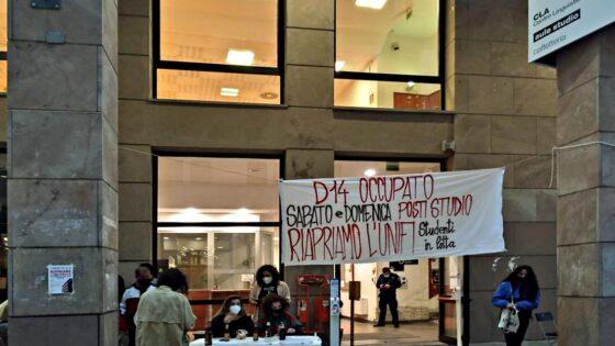 'Studenti in lotta per il diritto allo studio': Aula studio al D14 di Novoli occupata