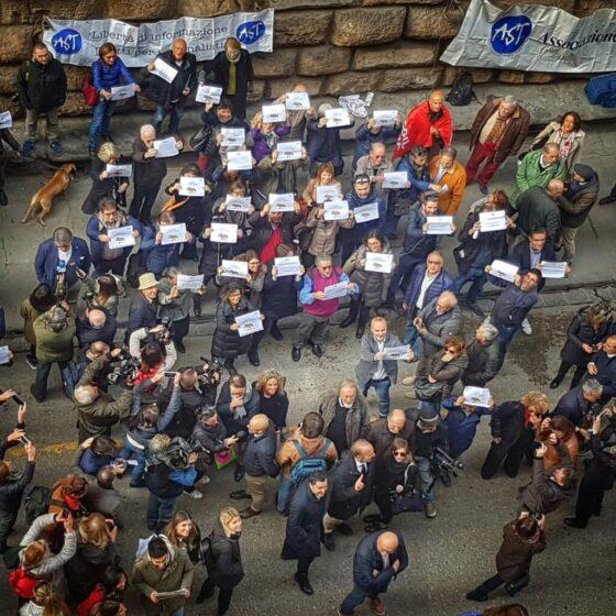 Informazione: giornalisti in piazza a Firenze, adesione Giani, Mazzeo, Nardella e mondo politico