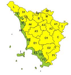 Maltempo in Toscana: codice giallo per temporali fino a domani