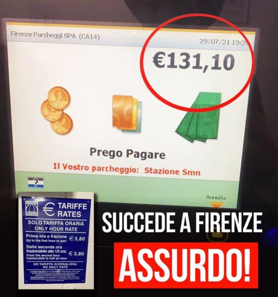 Bergamini: 'Pagati 131 euro per sosta a Firenze costo folle', la replica di Fipark e dell'assessore Del Re