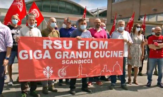 🎧 Giga Grandi Cucine, sciopero e presidio ai cancelli a Scandicci