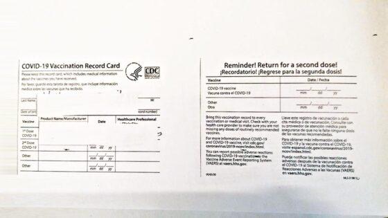 'White Card' statunitense equiparata al Green Pass