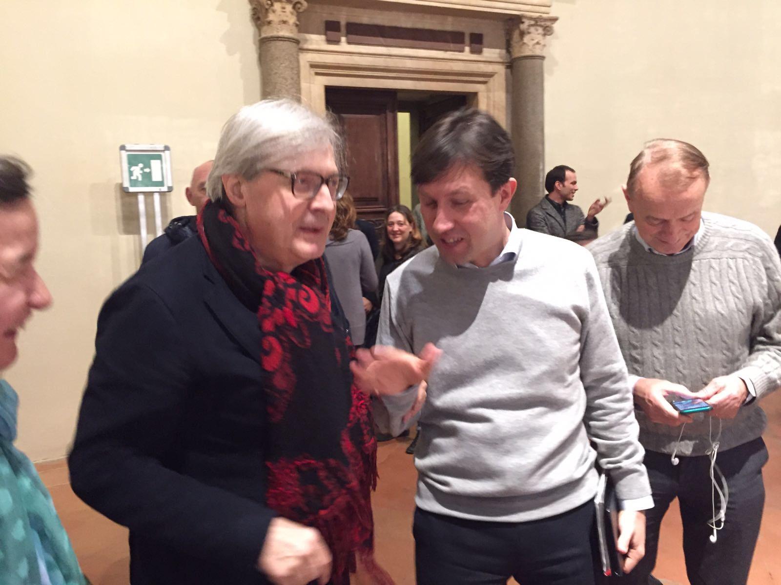 Vittorio Sgarbi a Palazzo Vecchio: